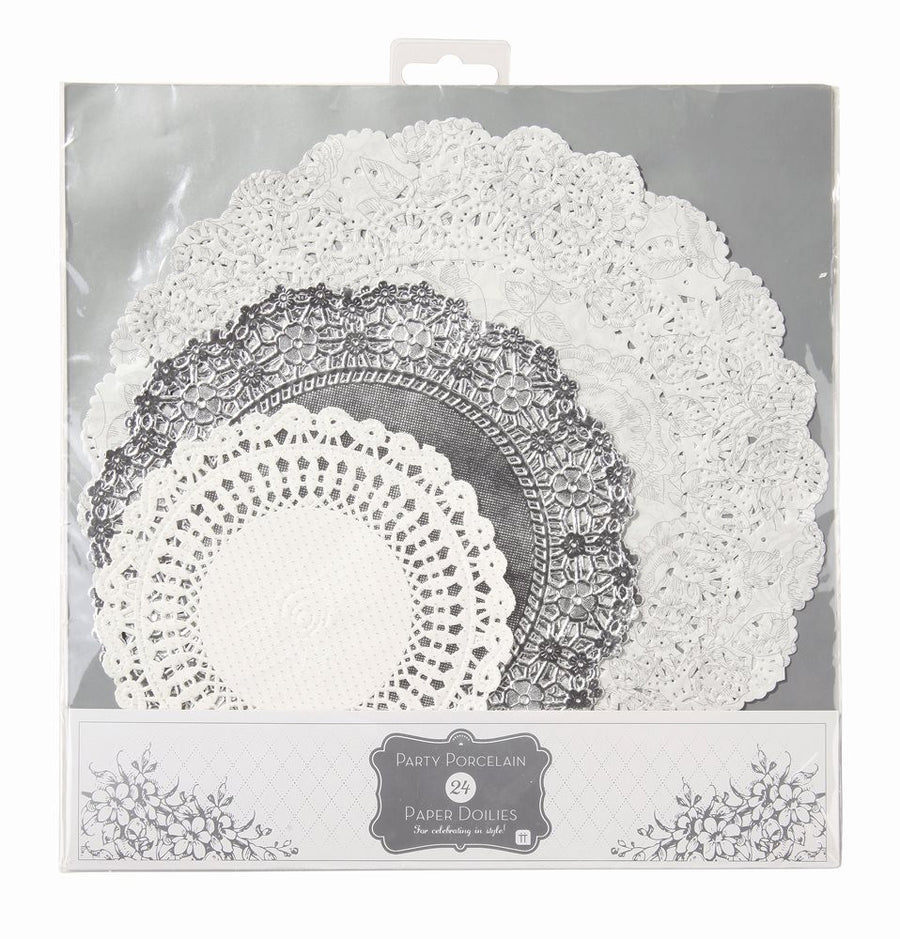 Party Porcelain Silver Doilies, TT-Talking Tables, Putti Fine Furnishings