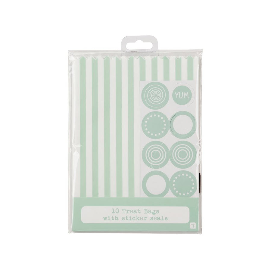 Mix & Match Striped Treat Bags - Mint