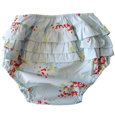 Blue Mixed Floral Frilly Knickers, PC-Powell Craft Uk, Putti Fine Furnishings