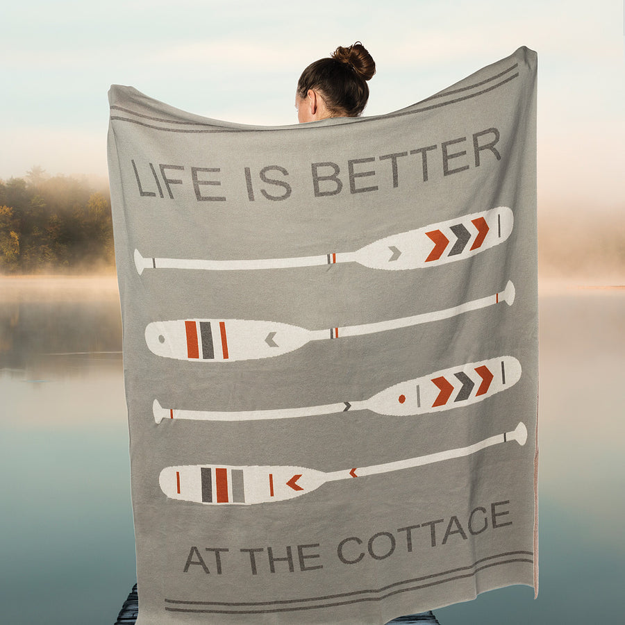Cottage Paddle Knit Throw