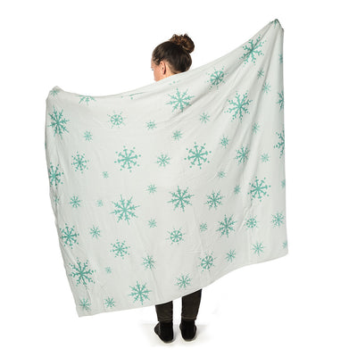 Allover Snowflake Knit Winter Throw