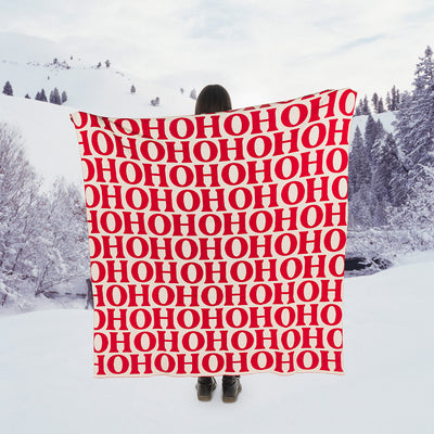 HOHOHO Knit Throw | Putti Christmas Canada