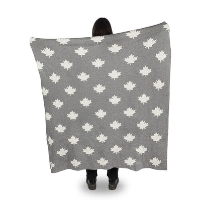 Maple Leaf Knit Throw