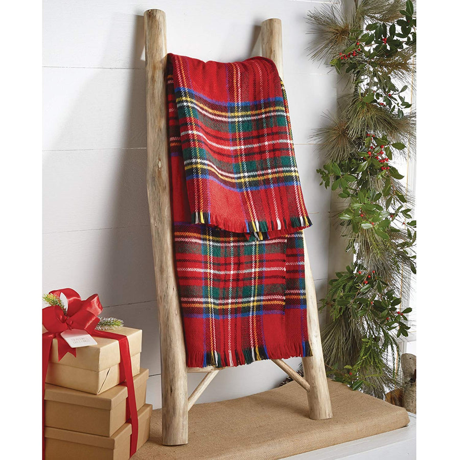 Red Tartan Throw Blanket