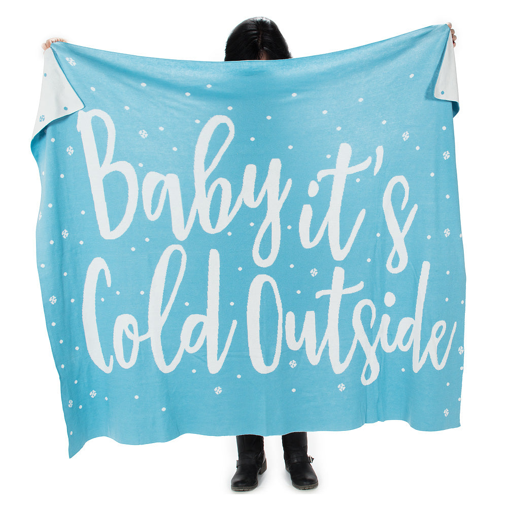"""Baby It's Cold Outside"" Knit Winter Throw"