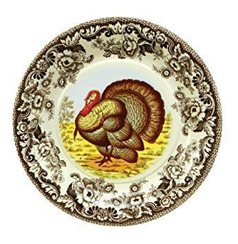 """Woodland Turkey"" Paper Plate - Small"