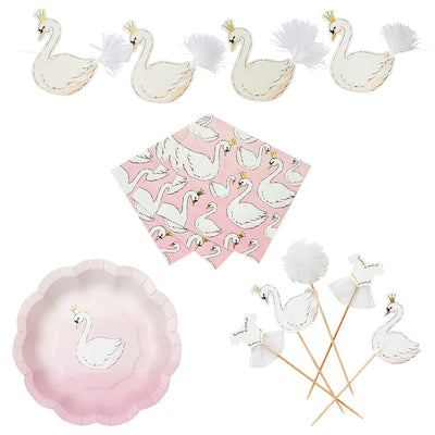 """We Heart Swans"" Paper Napkins - Beverage"
