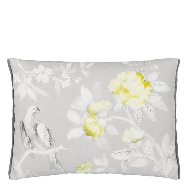 Designers Guild Pontoise Silver Cushion - Putti Fine Furnishings Canada