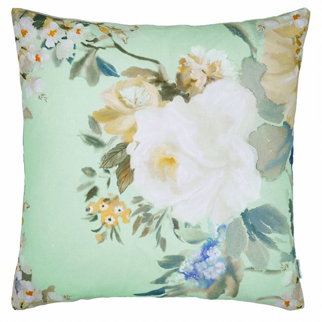 Designers Guild Proserpine Pale Jade Cushion - Putti Fine Furnishings Canada
