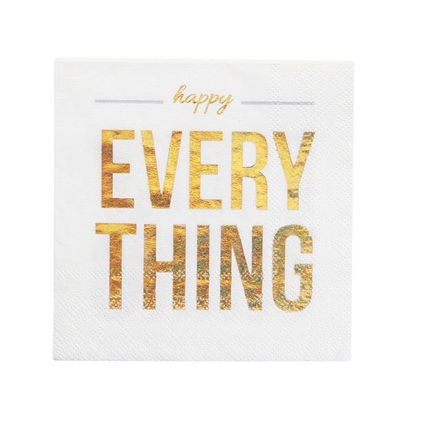 """Happy Everything"" Paper Napkin - Beverage - Putti Party Canada"