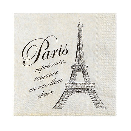 """Paris is always a good idea"" Paper Napkin - Lunch - Putti Party Canada"