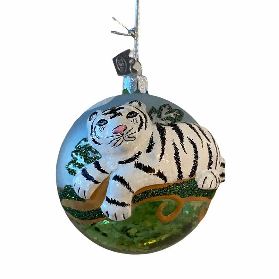 Kurt Adler Tiger Glass Ball Ornament