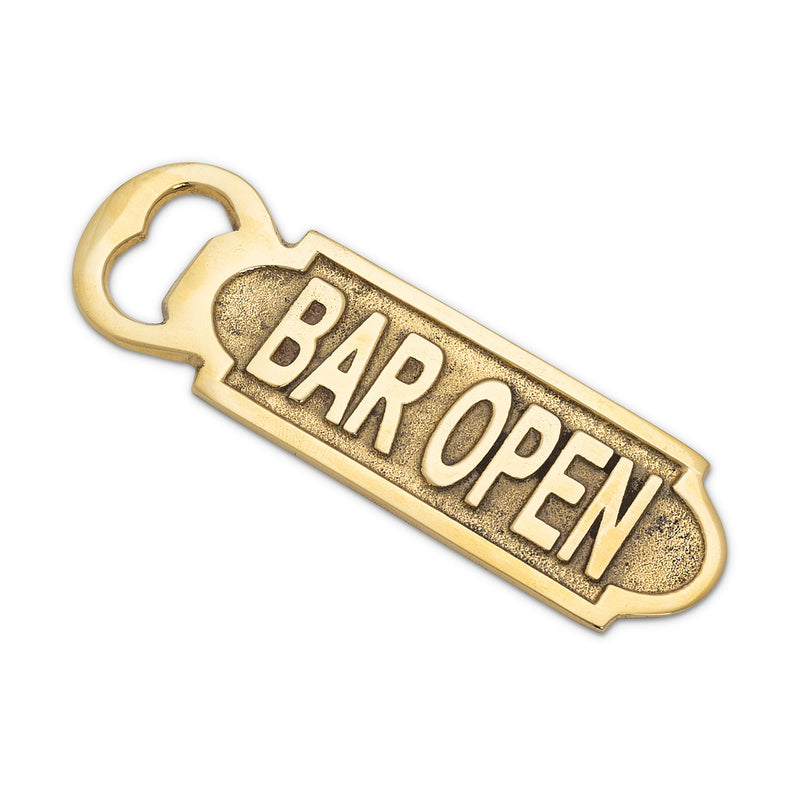 Flat Bottle Opener-Bar Open, AC-Abbott Collection, Putti Fine Furnishings