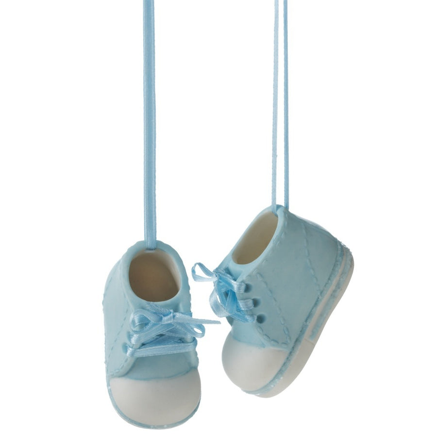 Personalizable Baby Bootie Ornament - Boy Blue