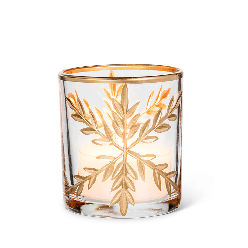 Large Gold Snowflake Maxilight Holder