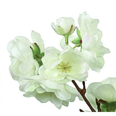 Cherry Blossom Branch - Small White-Artificial Flowers-Windward Canada-Putti Fine Furnishings