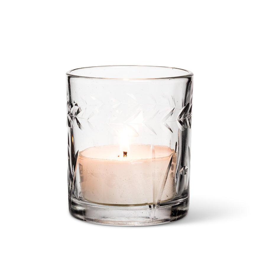 Cut Glass Votive Holder - Large