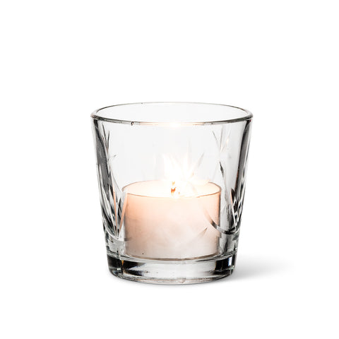Cut Glass Votive Holder - Small-Candle Accessories-AC-Abbott Collection-Putti Fine Furnishings