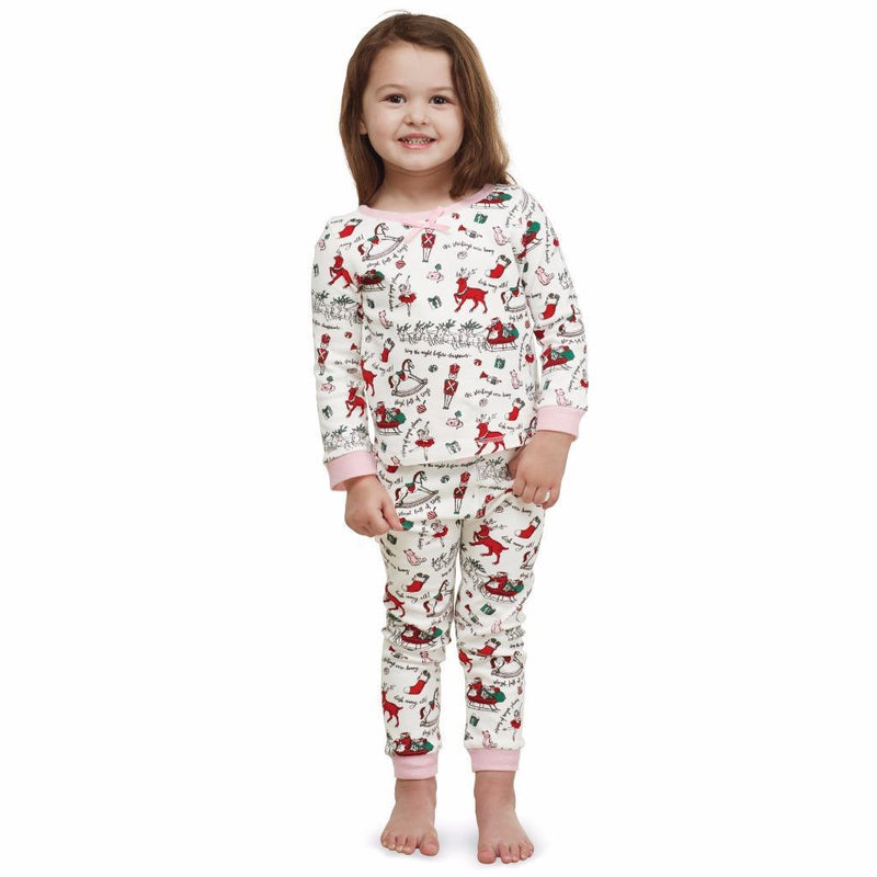 Mud Pie Pink Holiday Print Pyjamas