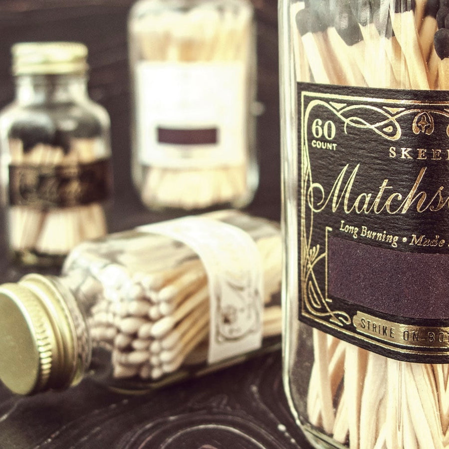 Skeem Design Antique Bottle Matches - Black