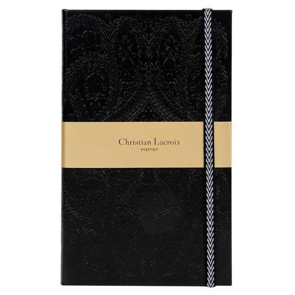 Christian Lacroix Slim Hardcover Journal - Paseo Black