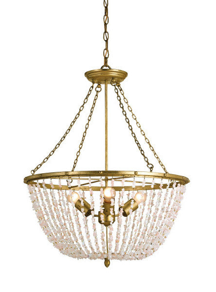 Currey & Company Rose Quartz Ceiling Fixture, Currey & Co, Putti Fine Furnishings
