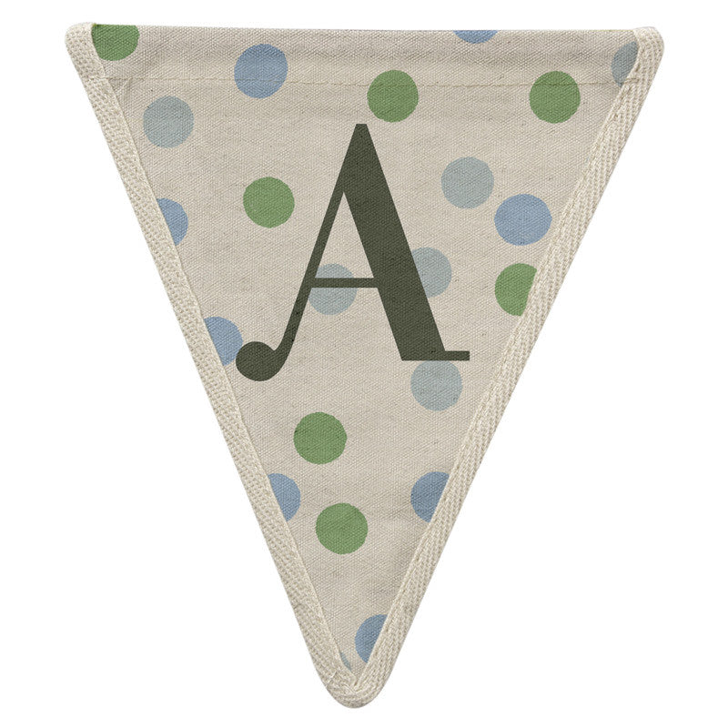 Meri Meri Alphabet Bunting - Letter A, MM-Meri Meri UK, Putti Fine Furnishings