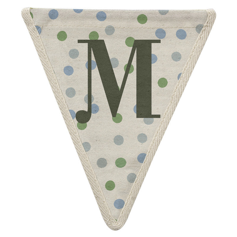 Meri Meri Alphabet Bunting - Letter M, MM-Meri Meri UK, Putti Fine Furnishings