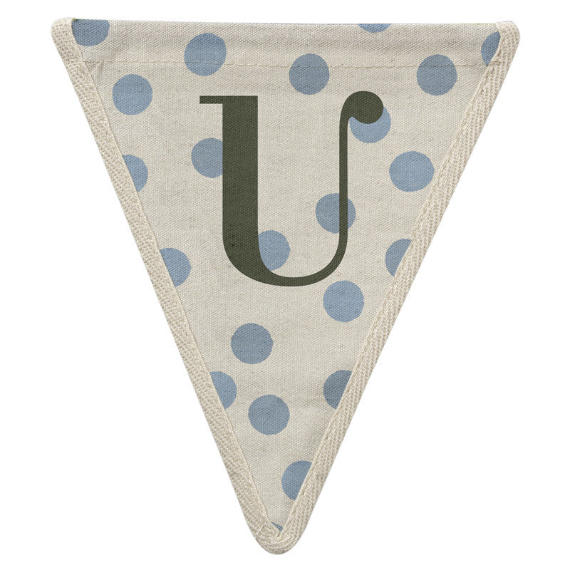 Meri Meri Alphabet Bunting - Letter U, MM-Meri Meri UK, Putti Fine Furnishings