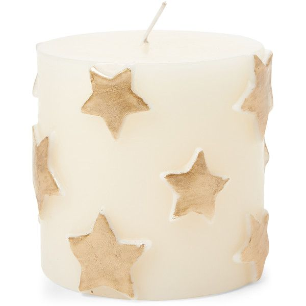 Zodax Gold Star Embossed Pillar Candles