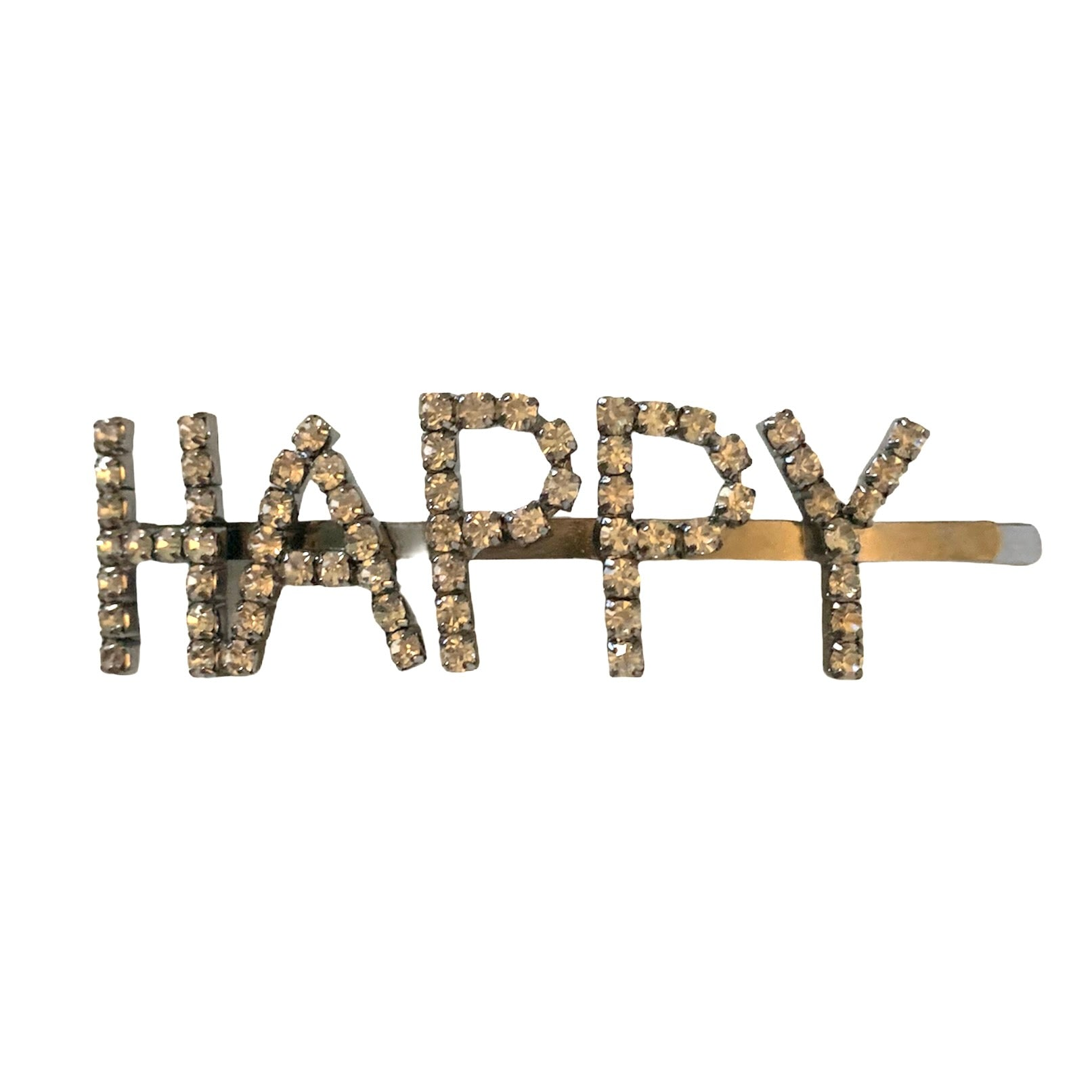 "Diamante ""Happy"" Hair Clip"