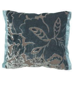 Designers Guild Rondine Teal Throw Pillow-Pillow-DG-Designers Guild-Teal-Putti Fine Furnishings