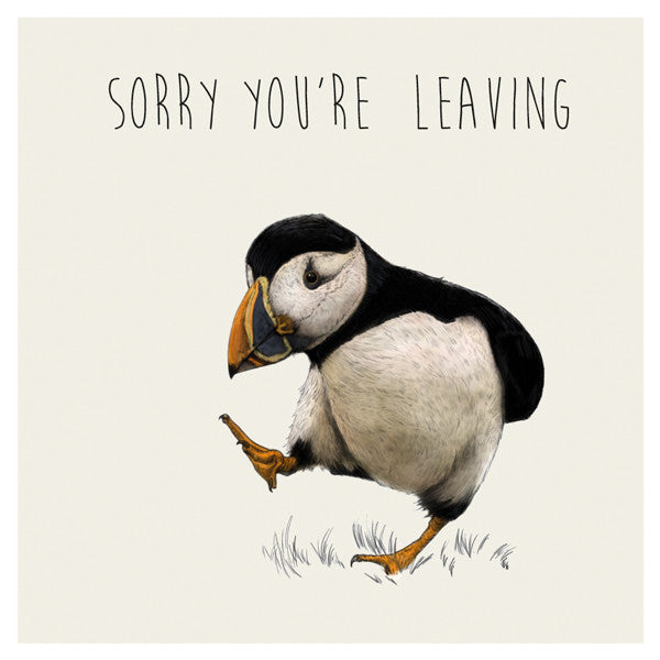 """Sorry you're leaving"" Large Greeting Card"