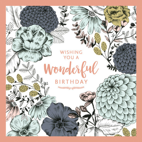 """Wishing you a wonderful birthday"" Large Greeting Card"