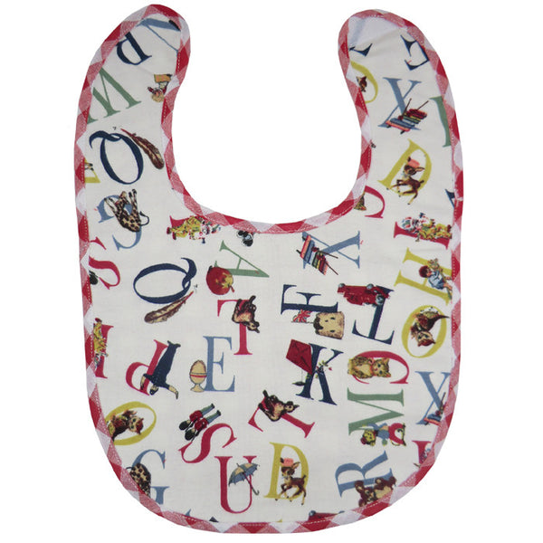 Retro ABC Bib -  Children's Clothing - Powell Craft Uk - Putti Fine Furnishings Toronto Canada