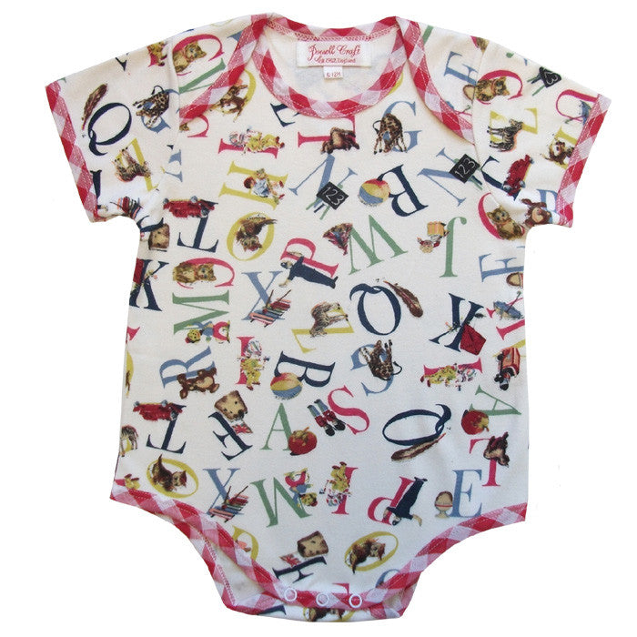 ABC Baby Grow - 0 to 6 month Children's Clothing - Powell Craft Uk - Putti Fine Furnishings Toronto Canada