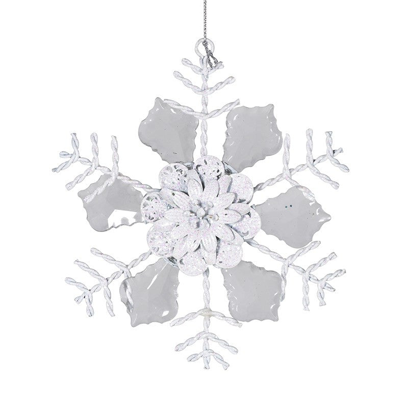 Hanging Snowflake Decoration, CH-Coach House, Putti Fine Furnishings