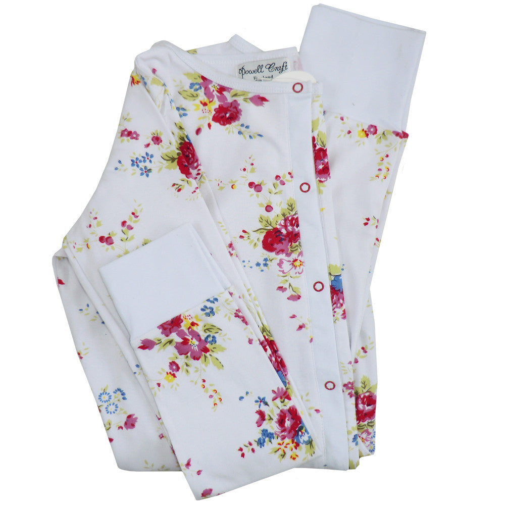 Mixed Floral Ladies Onesie -  Sleepware - Powell Craft Uk - Putti Fine Furnishings Toronto Canada - 2