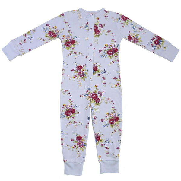 Mixed Floral Onesie-Nightwear-PC-Powell Craft Uk-2 to 3-Putti Fine Furnishings