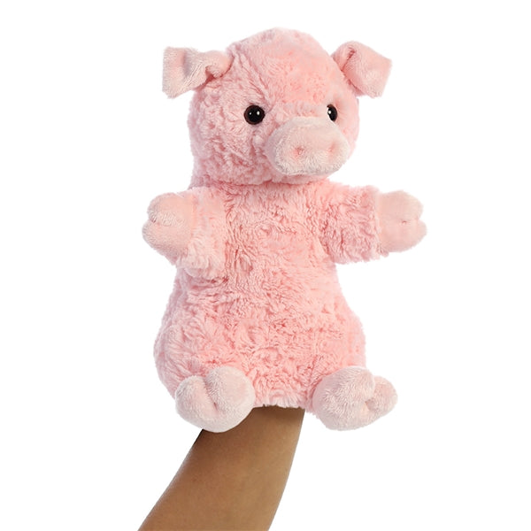 """Pinky"" The Plush Pig Hand Puppet, NF-Nearly Famous, Putti Fine Furnishings"