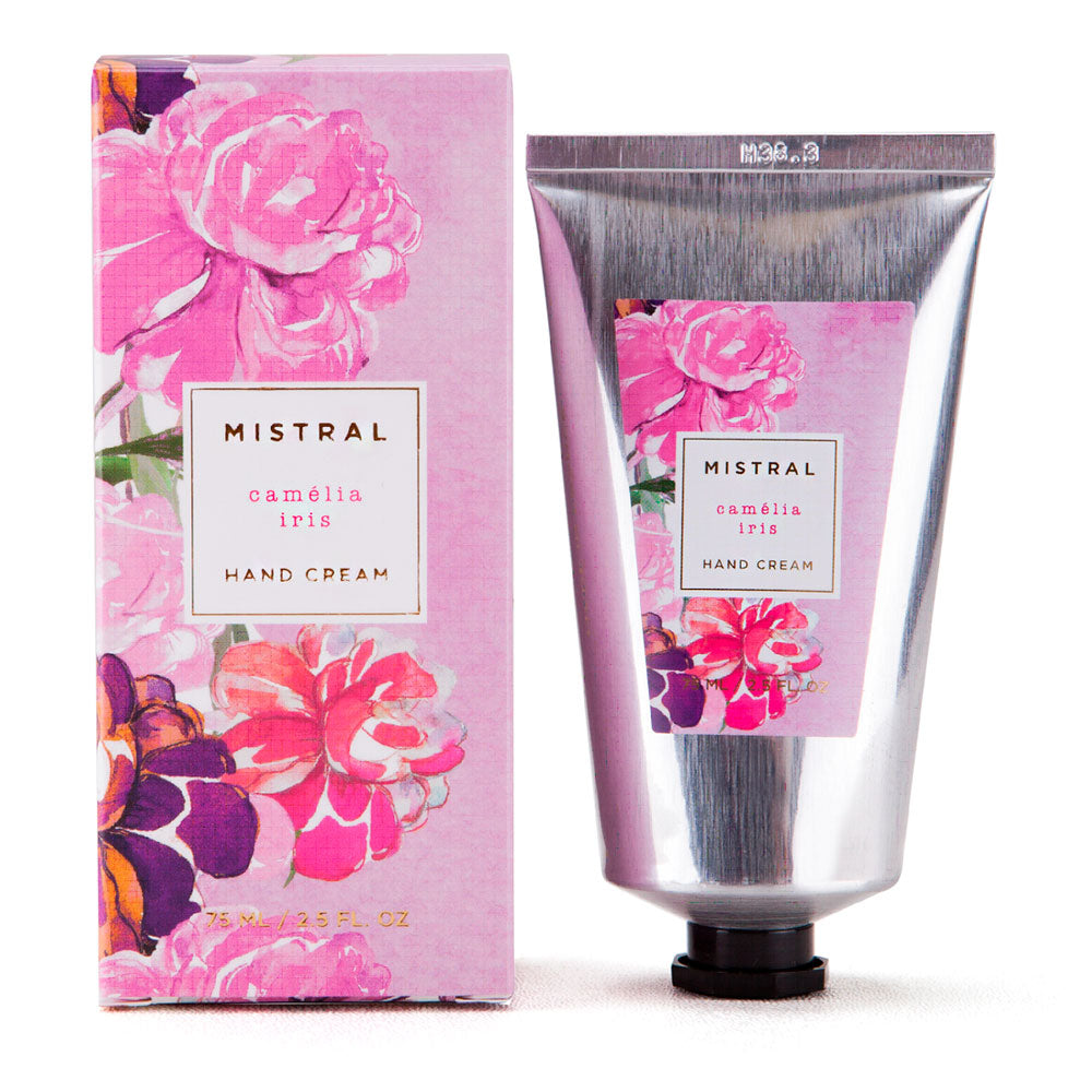 Mistral Floral Collection Hand Cream - Camelia Iris - Putti Fine Furnishings
