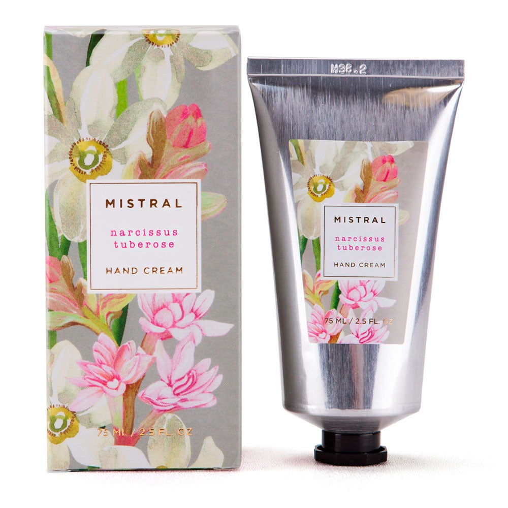Mistral Floral Collection Hand Cream - Narcissus Tuberose - Putti Fine Furnishings