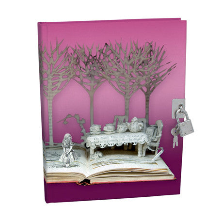"""Alice in Wonderland"" Lockable Notebook, Putti Fine Furnishings, Putti Fine Furnishings"