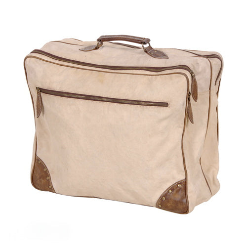 Aged Canvas Weekend Bag-Weekend Bags-Coach House-Putti Fine Furnishings