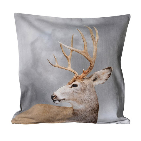 Stag Cushion -  Christmas - Coach House / Abbot Collection - Putti Fine Furnishings Toronto Canada