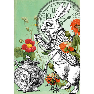 Alice In Wonderland - The March Hare - Nearly Ten to Two - Card, EG-Estelle Gifts, Putti Fine Furnishings