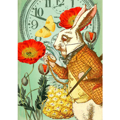 "Alice In Wonderland ""I'm Late"" - Card"