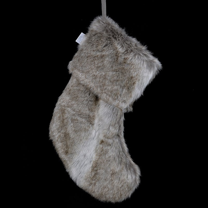Natural Faux Fur Stocking