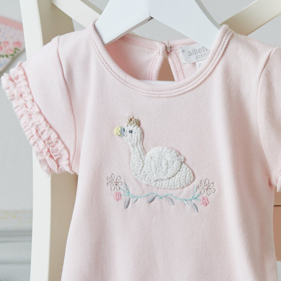 Albetta Crochet Swan Romper, AUK-Albetta UK, Putti Fine Furnishings