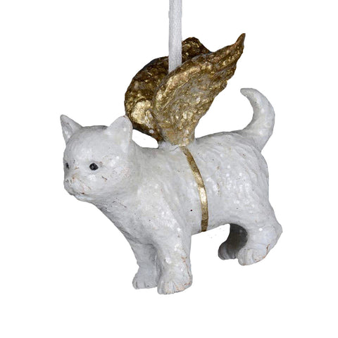 Beloved Pet Cat Angel Ornament